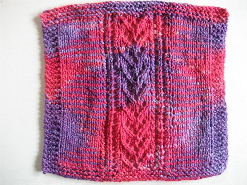 Lace Dishcloth Knitting Pattern : Lace patterns, Knit patterns and Dishcloth on Pinterest