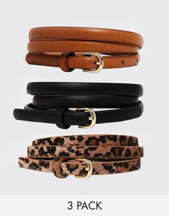 €16, Correa de Cuero de Leopardo Marrón de Asos. De Asos. Detalles: https://lookastic.com/women/shop_items/197139/redirect