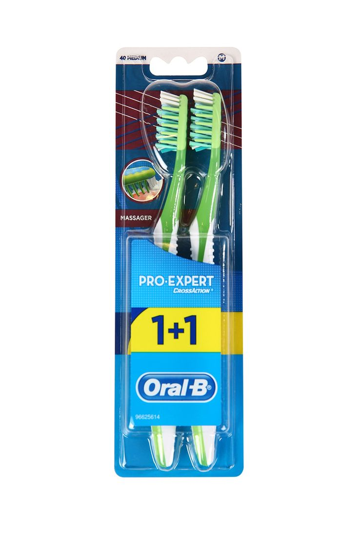 Oral-B Diş Fırçası Pro-Expert Massager 40 Orta 1 Alana 1 Bedava Paketi ::