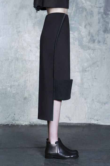 High-low trousers; creative pattern cutting; tailoring; contemporary fashion details // DZHUS AW15