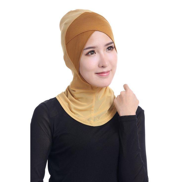 Newest Chic Lady Modal Hijab Islamic Cap Bone Bonnet Ninja Neck Cover Muslim Underscarf