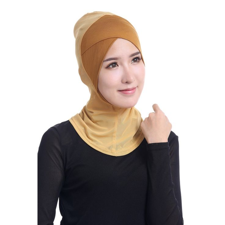 최신 세련된 레이디 모달 히잡 이슬람 모자 뼈 보닛 닌자 목 커버 이슬람 Underscarf