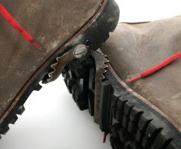 Pivetta classic hiking boots with what looks like some kind of mini built-in crampon