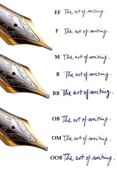 モンブランのペン先