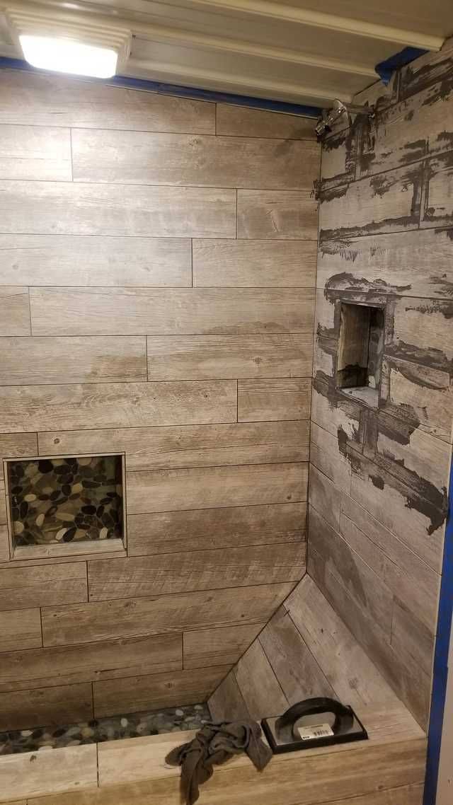 Just Finished The Custom Shower Bathtub In My Apartment All Made Out Of Tile In 2020 Bathtub Shower Custom Shower Bathtub Tile