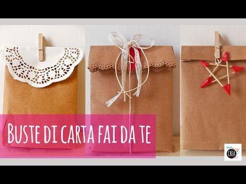 Con carta da pacco e nastro adesivo si possono creare delle buste da usare per i regali! Un'alternativa ecologica ed economica per Natale. Per altri dettagli...