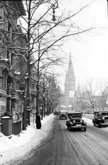 Berlin: Budapester Straße mit Gedächtniskirche Ecke Kurfürstenstraße (1939)