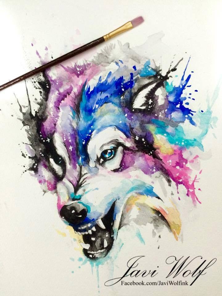WATERCOLOR WOLF, Pintura de un servidor espero les guste amigos!  ( Pintura vendida lml ) Citas & cotizaciones únicamente en www.javiwolf.com