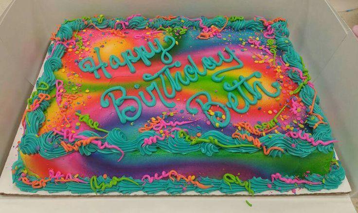 Bunter Blechkuchen in Buttercreme – kuchenzeug   – Cakes