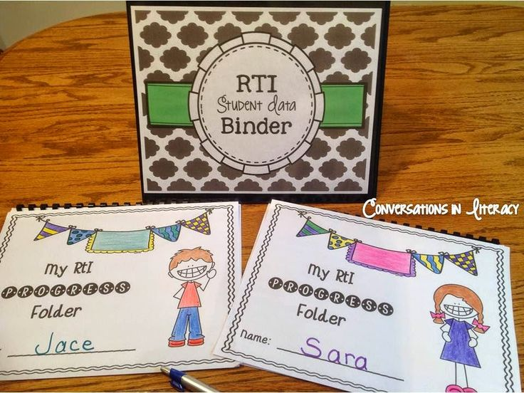 Managing RTI Data Graphs$ using binders for teachers and students- great way to get going with RTI!