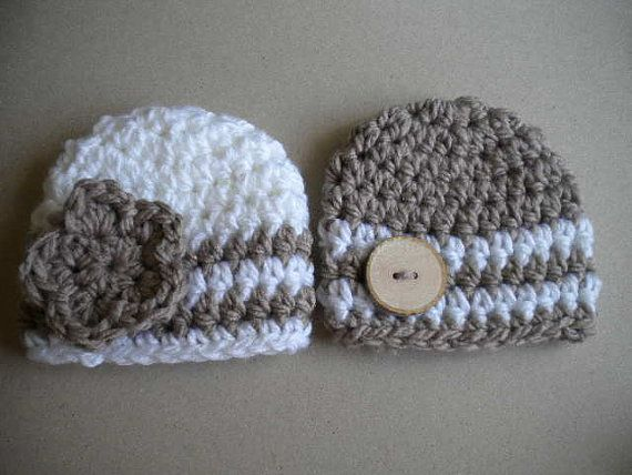 Baby girl hat,baby boy hat,baby beanie,Newborn Crochet Baby Hat,newborn hat,baby hat,baby beanie,hats for twins,twin hats,twin beanies on Etsy, $28.00