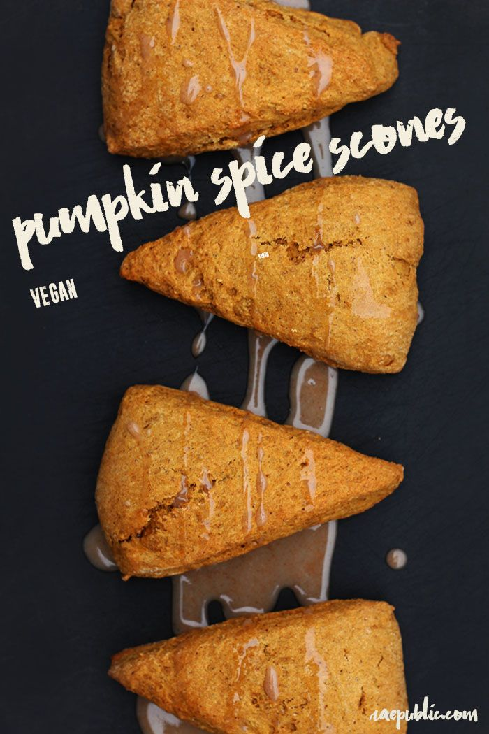 Vegan PUMPKIN SPICE SCONES that are super easy to make. Dairy-free