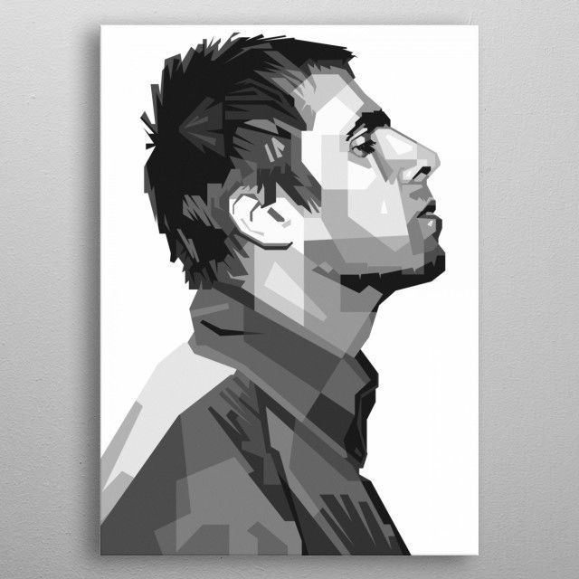 LIAM GALLAGHER Oasis Minimalist Music Print Minimal Poster Posteritty Art