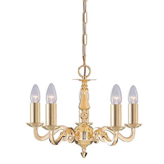 Seville - 5-ramenný celomosadzný sviečkový luster