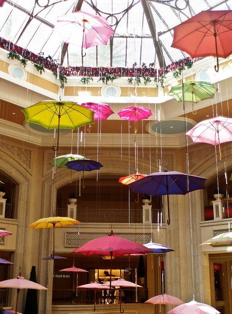 Raining-Umbrellas Display at the Wynn, Las Vegas, Nevada -- saw this and loved it!