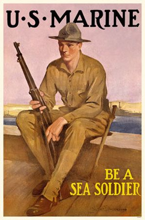 USA Marines WW2 Recruiting Poster JAN16