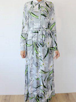 PETITE Lightgrey Floral Maxi Dress