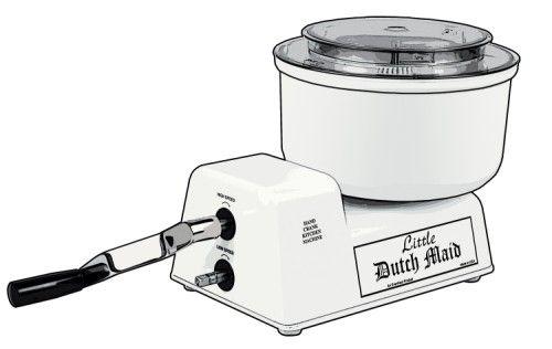 A Commercial Grade Hand Crank Mixer And Food Processor For