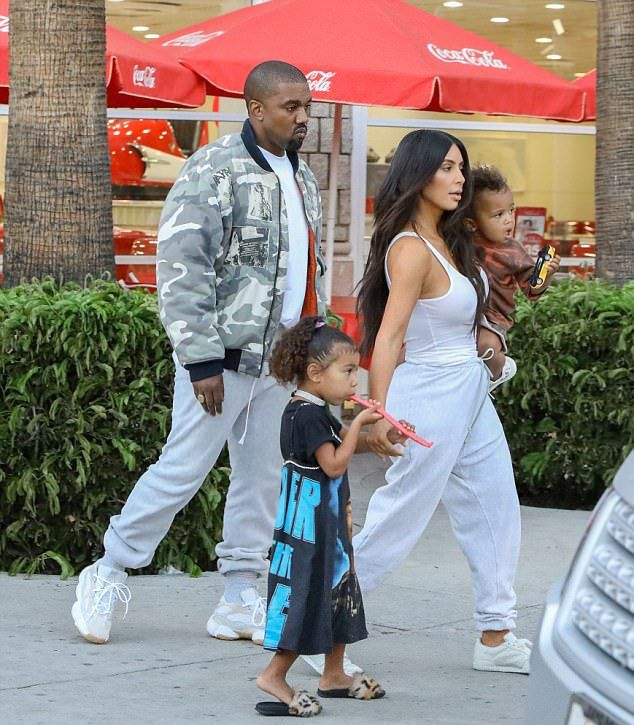 Kanye West Leaves Daughters Birthday Party Wearing Vintage Raf Simons 2001 Jacket and Adidas Running Sneakers | UpscaleHype
