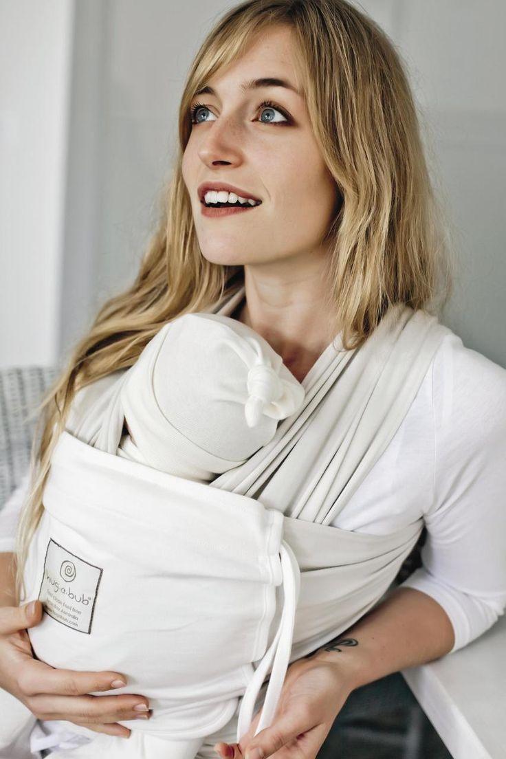 Baby Carriers Australia - hug-a-bub® Organic Pocket Wrap Carrier - French Beige