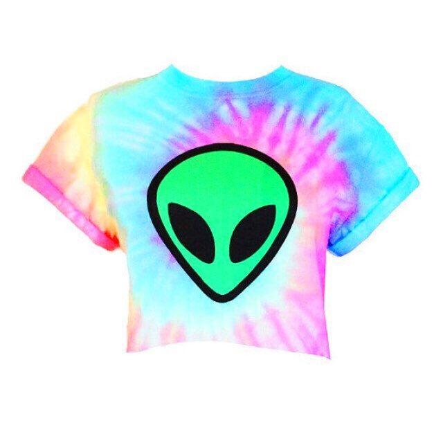 Alien Crop Top - Alien Tie Dye - Tiedye Crop Top - Pastel Grunge - Pastel Goth by Foxcultvintage on Etsy https://www.etsy.com/listing/236489528/alien-crop-top-alien-tie-dye-tiedye-crop