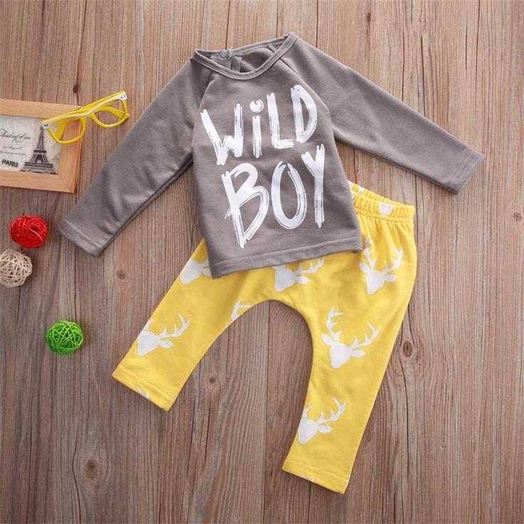 2016 осень Дети мальчики одежда набор, мальчик одежда мода ребенка малыша наряд, малыш Prewalker Возраст 0 2 годкупить в магазине Special DealнаAliExpress