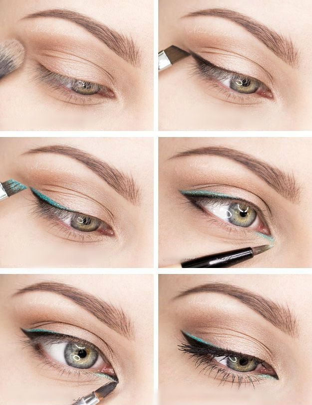Black Eyeliner With a Touch of Colour