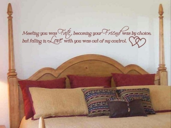 master bedroom decorating ideas with wall stickers quotation picture - Ideas To Decorate Bedroom Walls