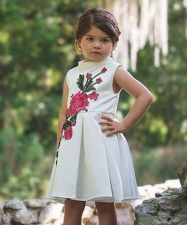 Loving this White Bardot Dress - Toddler & Girls on #zulily! #zulilyfinds THIS  WOULD BE PERFECT FOR KAIYA