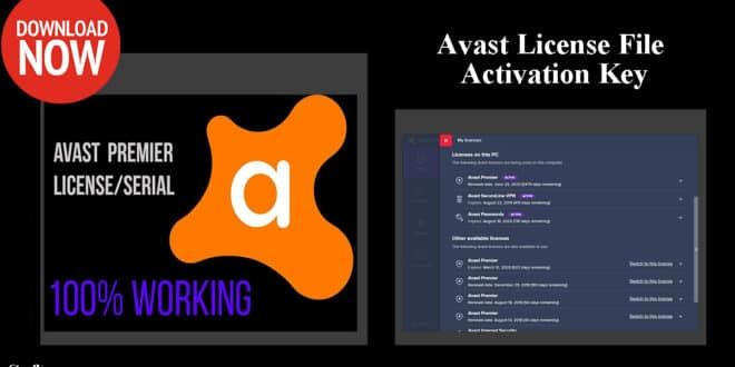 Avast Premium Activation Code License File 2019 Till 2050