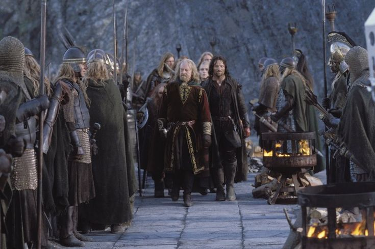 King Theoden and Aragorn at Helms Deep