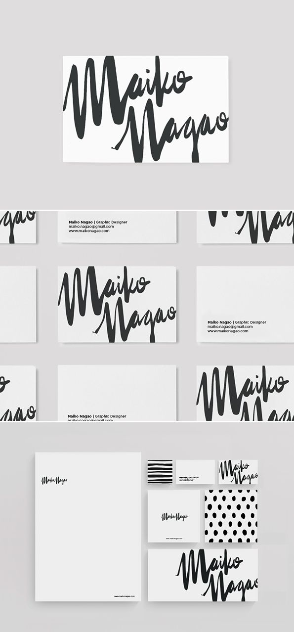 Stationery design and branding by Maiko Nagao. Graphic design for print ideas.