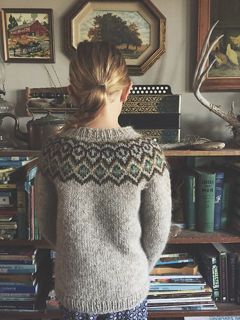 Kuldi Lopi Sweater pattern by Unnur Eva Arnarsdóttir