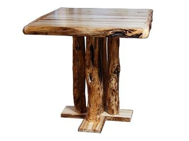 Shop For Rustic Log Pub Table In Wild Panel And Gnarly Log, And Other  Living Room Tables At High Country Furniture U0026 Design In Waynesville, NC    North ...