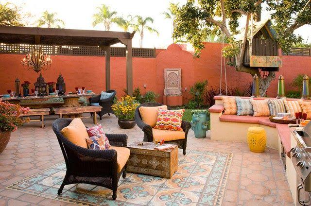 Decoracion de patios estilo morocco marroqui patios y - Decoracion de jardines y patios ...