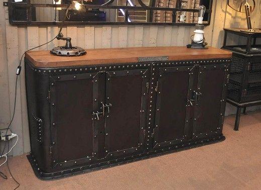 «BersoАнтик» - Антикварный шкаф-буфет из кованого металла