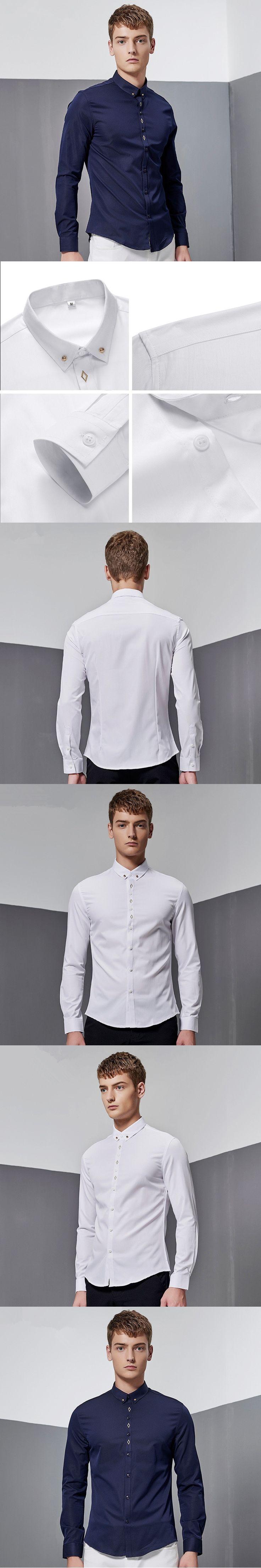 New Men's Brand Clothing Autumn Denim Shirt Men Long Sleeve Striped Shirts Men Slim Fit Casual Male Social Dress Shirt Clothes