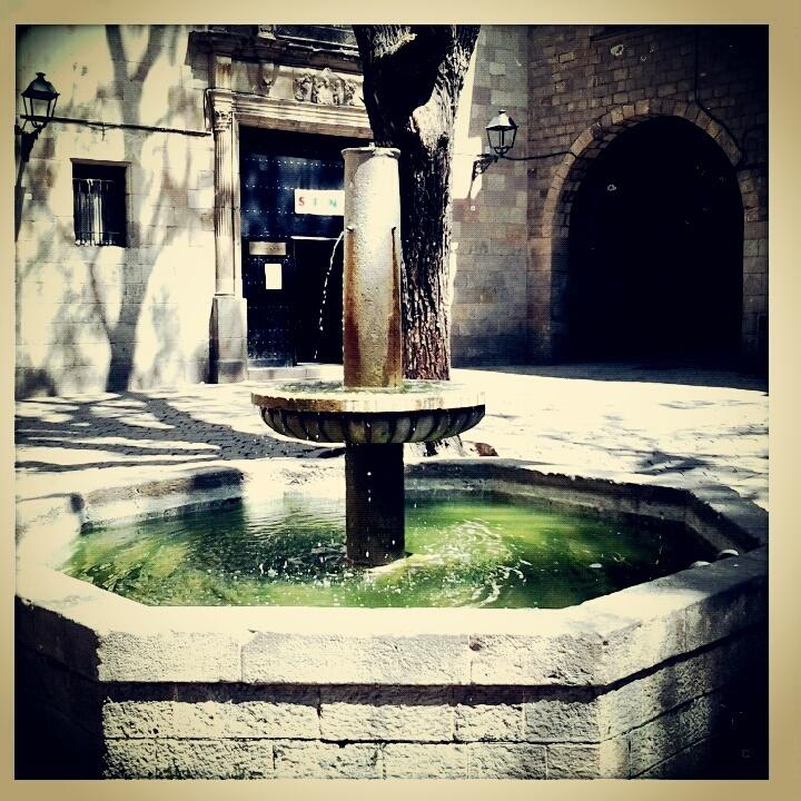 Fountain in sant felip neri