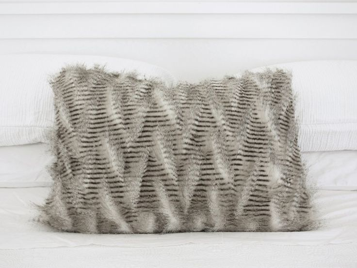 Lemur Faux Fur Cushion NZ $45, a functional addition to any room.