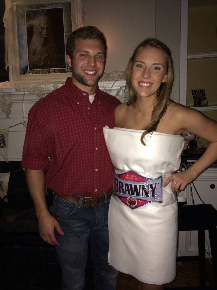 brawny man and paper towel roll dyi halloween costumes. Black Bedroom Furniture Sets. Home Design Ideas