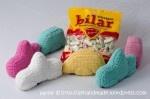 Free Crochet Pattern for Swedish Candy Cars / Gratis mönster på virkade Ahlgrens bilar http://aehandmade.com/wp-content/uploads/2010/05/Virka-Ahlgrens-bil.pdf
