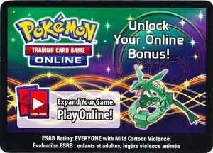 Pokemon Rayquaza 2012 Fall Legends Legendary EX Tin Online Code Card