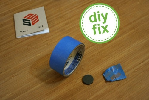 """How to find a wall stud: When he needs to search for a wall stud, he wraps it in blue painter's tape, leaving a flap to use as a handle, and drags it along the wall. """"When the magnet sticks the wall, you've found your stud,"""" he says. """"Then use a level and mark where you want to drill your hole."""""""