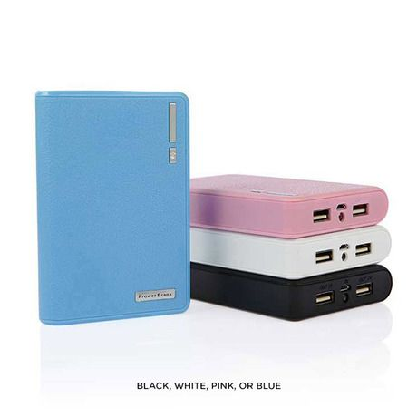 12,000mAh Wallet-Style Dual-USB Powerbank with LED Flashlight - Assorted Colors at 81% Savings off Retail!