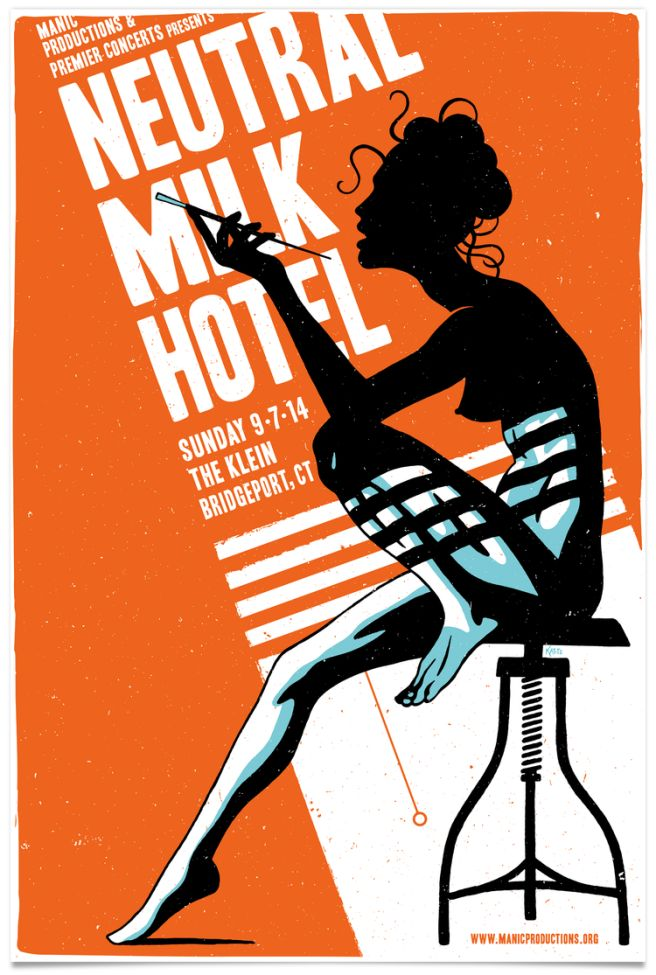 Neutral Milk Hotel gig poster © Mike Katits