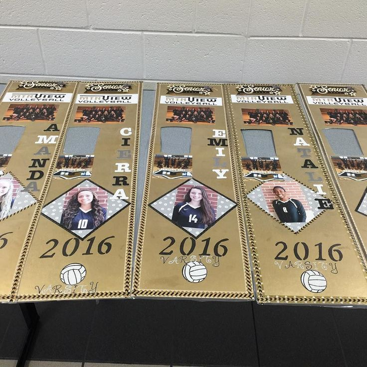 Raise your hand if you do locker decorations for #volleyball season!  Senior girls locker strips for 2016 Volleyball Season.