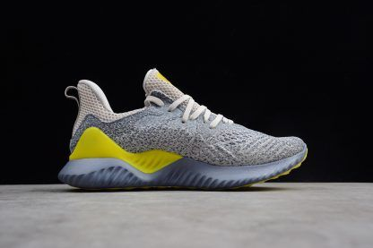 best sneakers e4479 0165a Mens adidas Alphabounce Beyond 2 M Grey Tan Yellow Shoes AQ0576-1