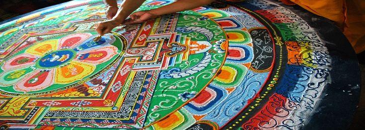 Il Mandala è particolare disegno di origine tibetana in cui ogni elemento della figura è connesso con un punto centrale. Hai un esempio qui sotto. Sono cert