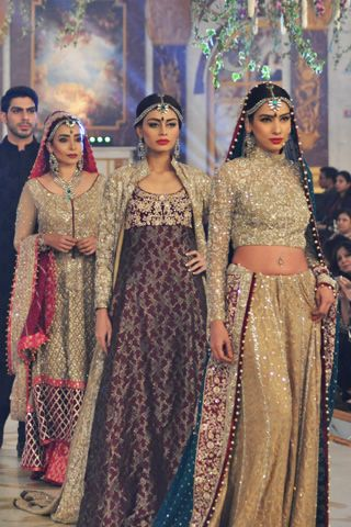 Imperial dresses by @zainabchottani Collection at Pantene Bridal Couture Week