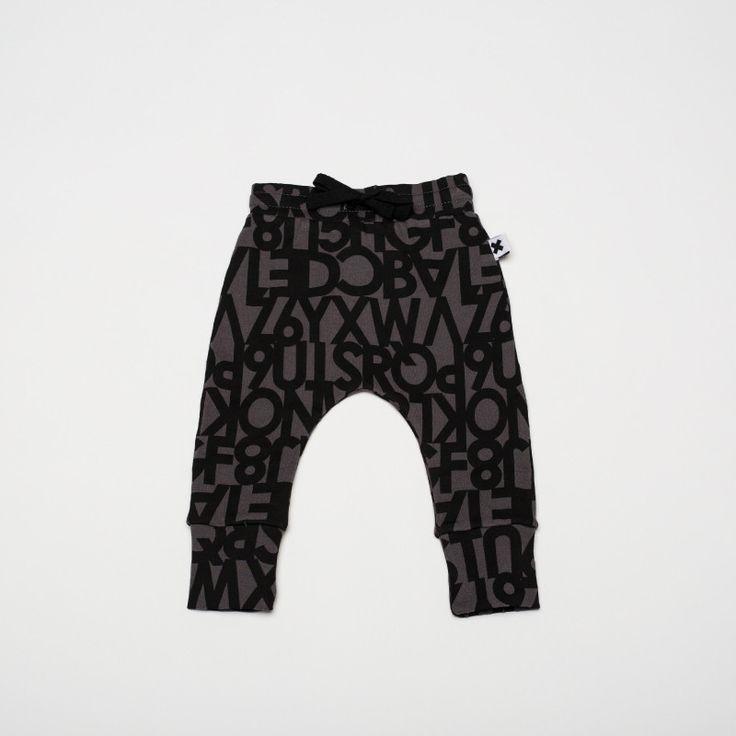 Wear Kids Play - Huxbaby | Alphabet Drop Crotch Pant, $39.95 (http://www.wearkidsplay.com.au/products/huxbaby-alphabet-drop-crotch-pant.html/)